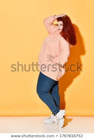 Tip mijn tong pepermunt snoep Stockfoto © alexeys