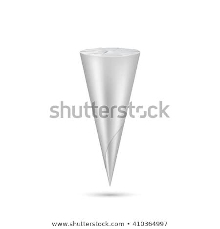 vetor · casquinha · de · sorvete · pacote · realista · isolado · branco - foto stock © Mediaseller
