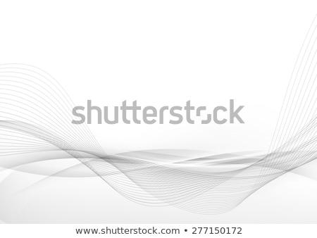 Soyut hatları şablon broşür dizayn vektör Stok fotoğraf © fresh_5265954