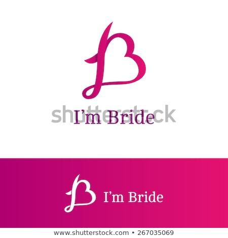 Stok fotoğraf: Dress Boutique Bridal Logo Template Illustration Vector Design