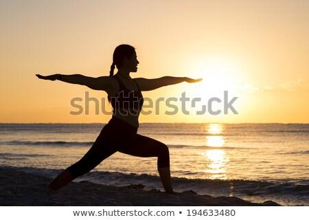 Yogi sunrise. Stock photo © Fisher