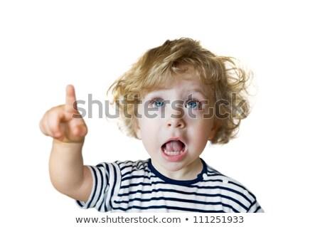 Meglepett kislány nyitott szájjal külső felfelé oldal Stock fotó © feedough