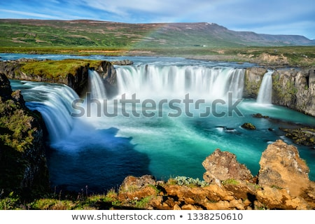 rivier · IJsland · wolken · hemel · bergen · water - stockfoto © kotenko