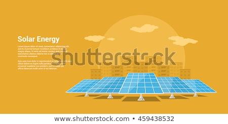 Photo stock: Vecteur · style · écologie · énergie · solaire · désert