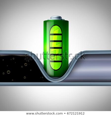 bateria · tecnologia · símbolo · energia · verde · limpar - foto stock © lightsource