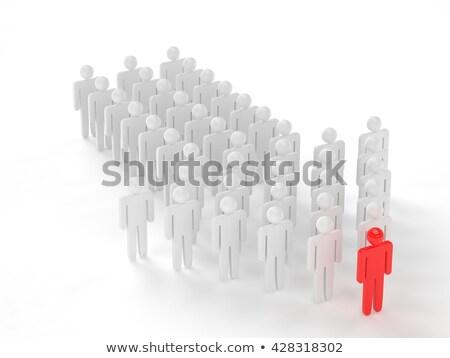 Mensen cijfer pijl vorm leider Stockfoto © sqback