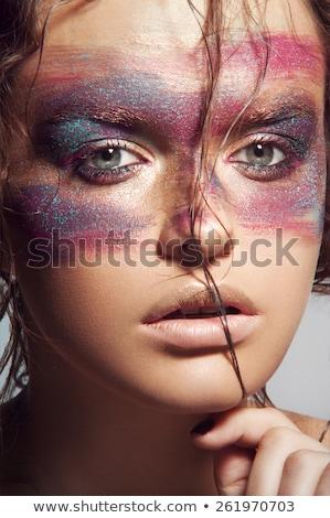 модель макияж портрет красивой влажный волос Сток-фото © julenochek