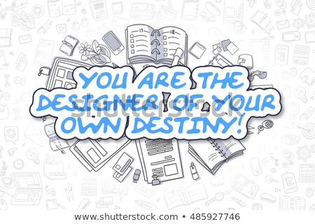 デザイナー 独自の 運命 ビジネス 吹き出し 文字 ストックフォト © tashatuvango