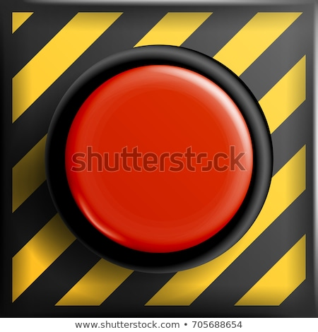red panic button sign vector red alarm shiny button illustration stock photo © pikepicture