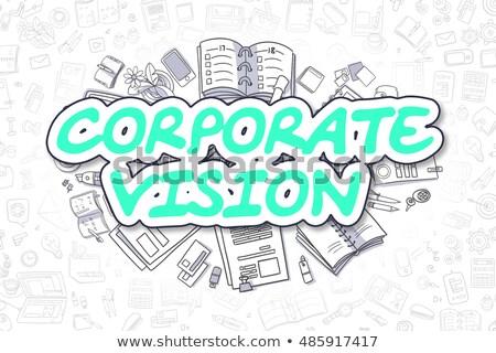 corporate vision   cartoon green text business concept stock photo © tashatuvango