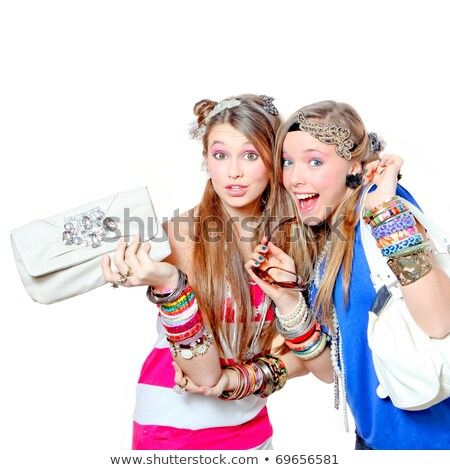 happy smiling fashion victims with accessories stock photo © godfer
