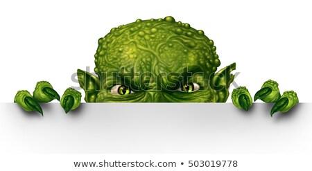 zombie or halloween monster sign stock photo © krisdog