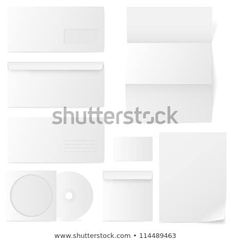 kahverengi · çizgili · zarf · gölge · parça · kâğıt - stok fotoğraf © kup1984