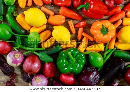 Сток-фото: свежие · органический · плодов · фрукты · рынке · улице