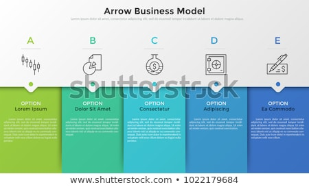 Thin line startup infographic template Stock photo © orson