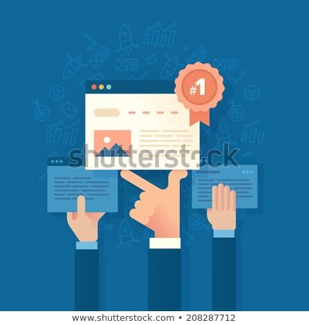 Weboldal rang üzlet szövegbuborék firka illusztráció Stock fotó © tashatuvango