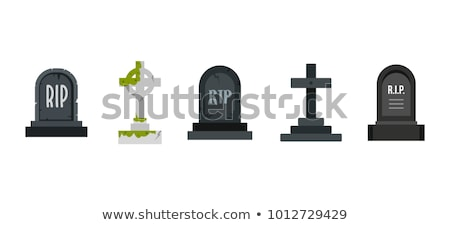 Old stone cross on grave Stock photo © Kotenko