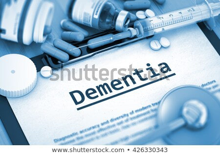 Aging - Printed Diagnosis. Medical Concept. 3D Illustration. Stock photo © tashatuvango
