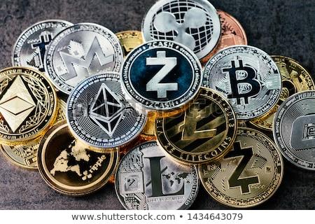 Bitcoin pénztárca digitális valuta felirat arany Stock fotó © Andrei_