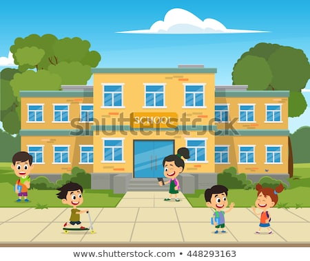 Back to School. Teacher with Pupils on School Yard Stock photo © robuart