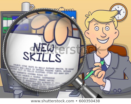 New Competence through Lens. Doodle Concept. Stock photo © tashatuvango