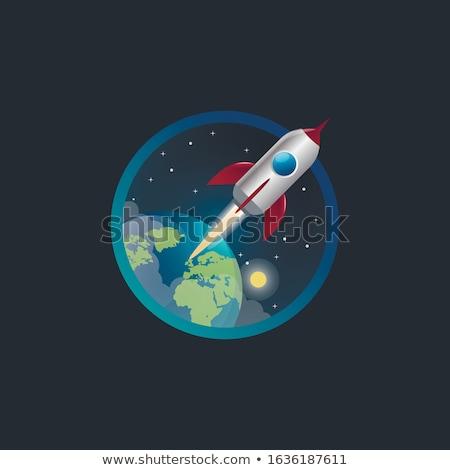 rakéta · illusztráció · égbolt · technológia · űr · repülőgép - stock fotó © get4net