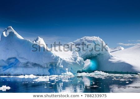 Meer park IJsland Blauw stippel water Stockfoto © Anna_Om