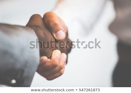 beyaz · siyah · dayanışma · el · sıkışma · durdurmak · ırkçılık - stok fotoğraf © studiostoks