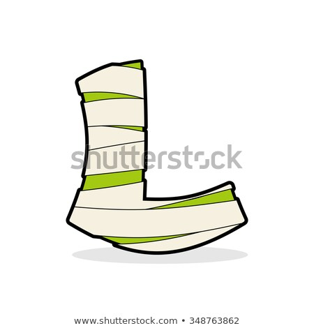 letter l egyptian zombies mummy abc icon coiled medical bandage stock photo © popaukropa