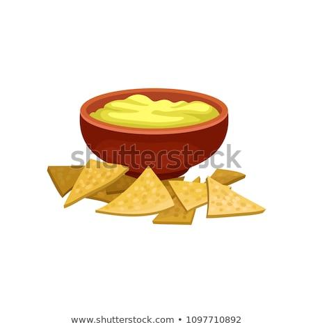 blanco · salsa · tazón - foto stock © yuliyagontar