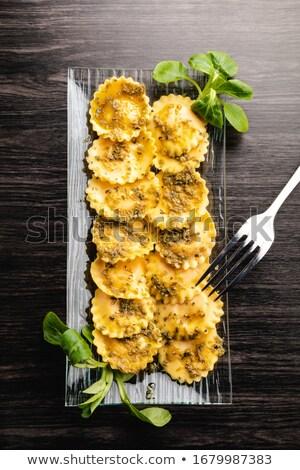 свежие · сырой · Пельмени · мучной · кухне · продовольствие - Сток-фото © yuliyagontar