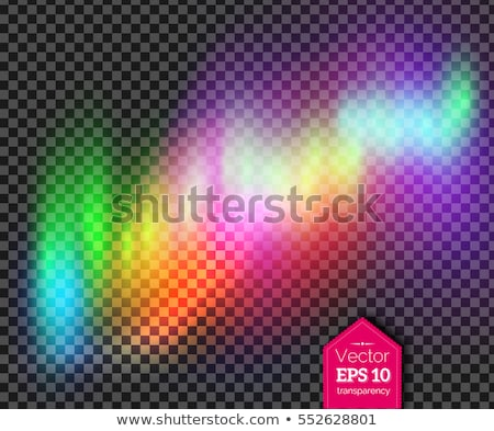 Vector illustration of multicolored northern lights Stock photo © Sonya_illustrations