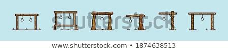 Przestępczości kara ikona naklejki zestaw ulotki Zdjęcia stock © -TAlex-