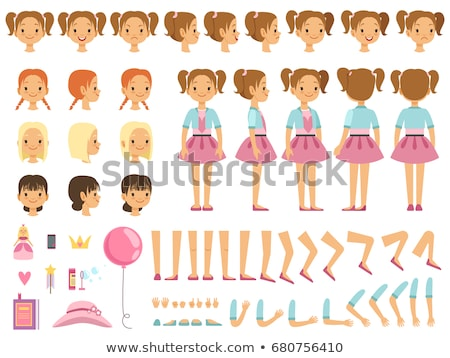 Little girl and different parts of body Stock photo © bluering