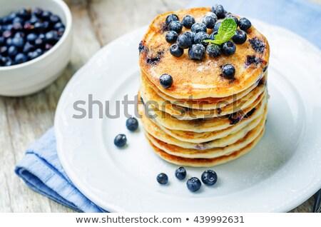 Homemade pancakes with blueberries Stock photo © YuliyaGontar