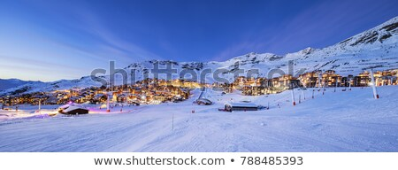 panorama of val thorens by night stock photo © vwalakte