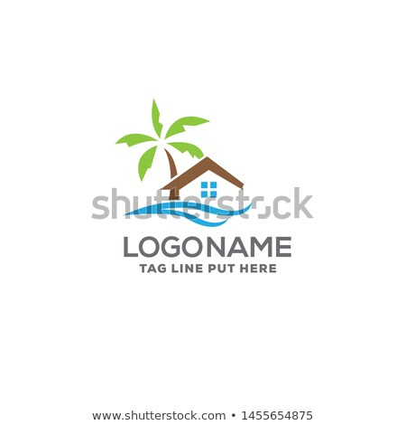 Casa de playa logo símbolo casa edificio naturaleza Foto stock © meisuseno