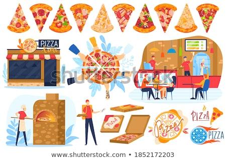 línea · alimentos · para · entrega · servicio - foto stock © studioworkstock