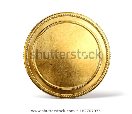 One golden coin isolated icon Stock photo © studioworkstock