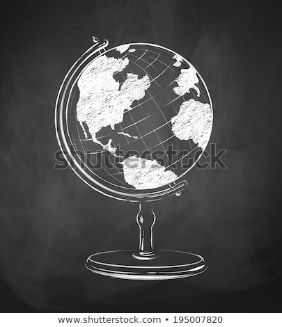 energii · wzoru · kredy · tablicy · świetle · nauki - zdjęcia stock © is2