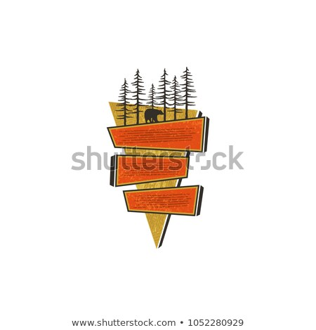 Vintage hand drawn travel badge design. Blank signs, badges design concept in 70s style. Paste your  Stock photo © JeksonGraphics