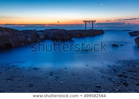 Japonia japoński bramy Świt morza Zdjęcia stock © vichie81