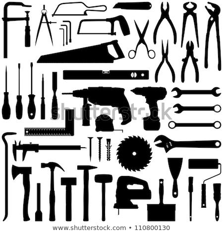 silhouetten · tools · ingesteld · zwarte · witte · werk - stockfoto © ratkom