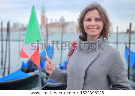 Viaje turísticos mujer puente hermosa vista Foto stock © artfotodima