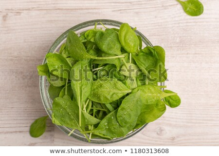 fresh spinach in a glass stock photo © caimacanul