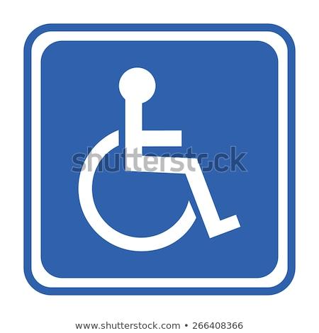 czarny · handicap · ikona · odizolowany · biały · krzesło - zdjęcia stock © luissantos84