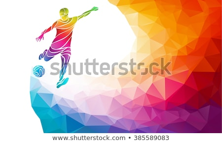 Soccer Football Player Sports Silhouette Concept Stock photo © Krisdog