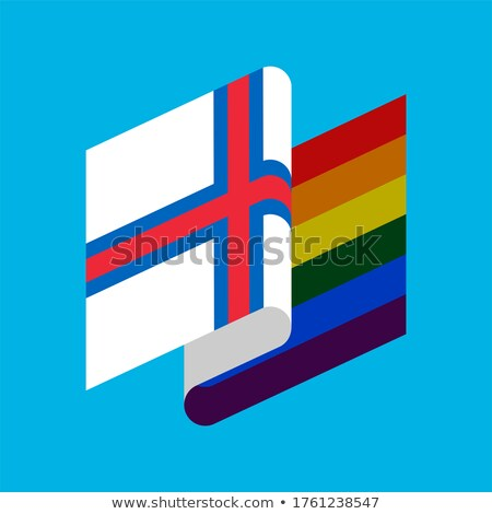 Faroe Islands LGBT flag. Symbol of tolerant. Gay sign rainbow Stock photo © popaukropa