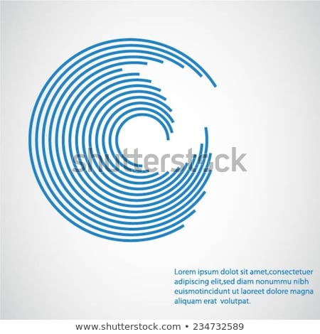 Abstract sphere icon. Vector design with twirl line Stock photo © designleo