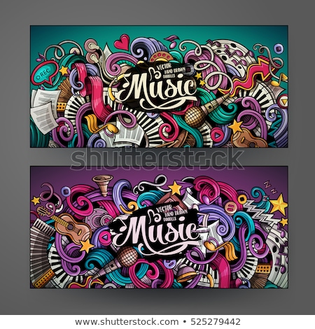 Colorful Music Card Stock photo © balabolka